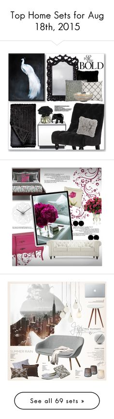 """""""Top Home Sets for Aug 18th, 2015"""" by polyvore ❤ liked on Polyvore featuring interior, interiors, interior design, home, home decor, interior decorating, Mitchell Gold + Bob Williams, Ethan Allen, Diane James and The Elephant Family"""