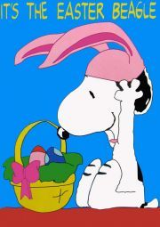 Snoopy~It's the Easter Beagle Peanuts Cartoon, Peanuts Snoopy, Charlie Brown Und Snoopy, Snoopy Und Woodstock, Snoopy Images, Easter Wallpaper, Snoopy Quotes, Hoppy Easter, Messages