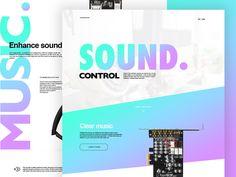 Sound control by Paweł Pniewski