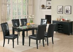 Anisa Black Dining Table w/ 6 Side Chairs, /category/dining-room/anisa-black-dining-table-w-6-side-chairs-2.html