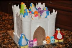 penguin castle cake