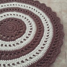 Crochrt Tshirt yarn rug. Made by tali's crochet