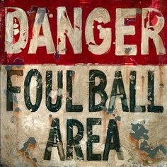Foul Ball Canvas Reproduction