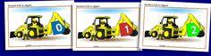 Numbers 0-20 on diggers (SB1142) - SparkleBox