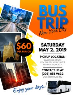 37 best travel posters and pamphlets images on pinterest in 2018 city bus trip flyer social media graphic design template bus trips promotional flyers graphic maxwellsz