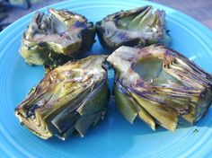 Fire Roasted Artichokes with Herb Aioli. Good first try. Needs just a touch of adjusting. Used and Approved