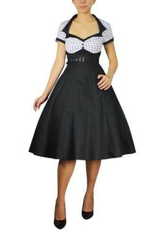 Plus Size Rockabilly Vintage Pinup Polka Dot Swing Dress BBW 28 26 24 22 20 18 | eBay