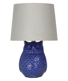 Royal Blue Wise Owl Accent Lamp