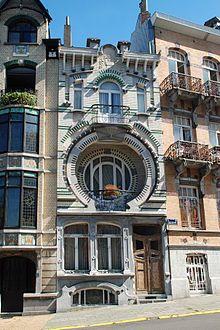 Art Nouveau en Bruselas. Casa Nelissen, en Forest, ejemplo del art nouveau geométrico de Bruselas
