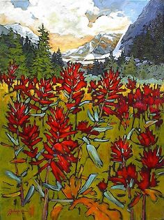 Paintbrush In the Rockies by Gail Johnson Artist