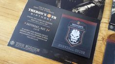 The absolute coolest Call of Duty Birthday invitation! My kid LOVED it and so did all his friends! Best mom award!
