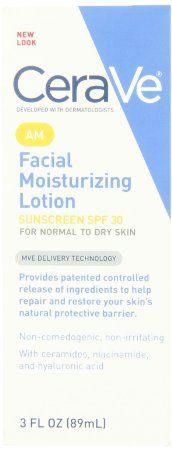 CeraVe Moisturizing Facial Lotion AM, 3 Ounce: Beauty...cerave face cream b3 niaminicide ingredients