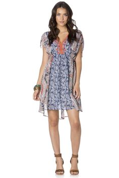 "Check out ""Collide Of Prints Dress"" from Miss Me"