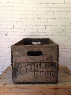 Vintage 1950 Drink National Beer Wood Crate