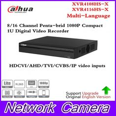 Dahua Multi-Language 8/16 CH Penta-brid 720P Compact 1U Digital Video Recorder Supports HDCVI/AHD/TVI/CVBS/IP XVR4108/16HS-X  Price: 138.00 & FREE Shipping  #tech|#electronics|#gadgets|#lifestyle Embedded Linux, Digital Video Recorder, Audio In, Shipping Packaging, Full Hd 1080p, Ip Camera, 4 Channel, Free Shipping, Boxing