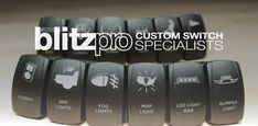 Blitzpro Custom Rocker Switches