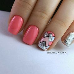 Nail Shapes - My Cool Nail Designs Acrylic Nail Designs, Nail Art Designs, Acrylic Nails, Nails Design, Toe Nails, Pink Nails, Latest Nail Art, Nail Decorations, Perfect Nails