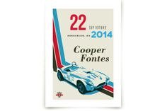 A Road Rally Art Prints by Three Kisses Studio at minted.com. Perfect for the little racer in your life!