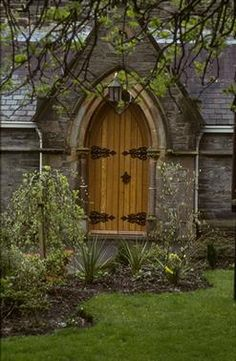 Rectory door in Derry, Ireland