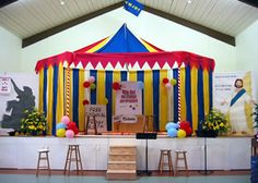 Cute idea for a stage for the Talent Show in May :)
