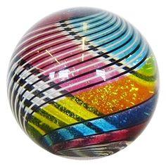 "Hot House Glass - ""Tri-Color Half & Half Marble"" More At FOSTERGINGER @ Pinterest"
