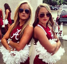 A Couple of Alabama Cheerleaders to Celebrate Bear Bryant's Birthday