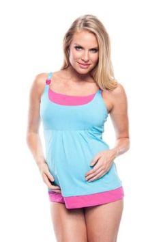 You! Lingerie Double YOU Maternity & Nursing Bra Tank - Rain Women's L Turquoise/Pink You! Lingerie. $39.99