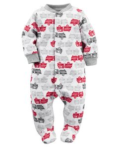 Baby Boy Fleece Snap-Up Sleep & Play from Carters.com. Shop clothing &…