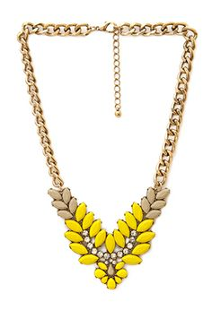 Elegant Faux Stone Necklace | FOREVER21 - 1000068830