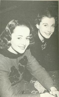 Viven Leigh and Olivia de Havilland  vivien and oliviasmall.jpg (500×827)