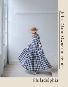 Old city festival today up and down street! Come by the style exhibit at & - it will be fun! Moda Casual, Check Dress, Linen Dresses, Fashion Outfits, Womens Fashion, Gingham, Style Me, Personal Style, Style Inspiration