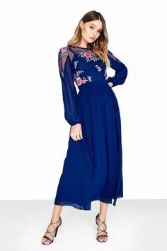 1aedefb2813 Little Mistress Print Maxi Dress Long Dresses