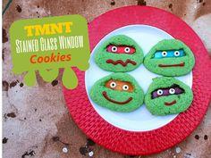 Teenage Mutant Ninja Turtles Stained Glass Cookies