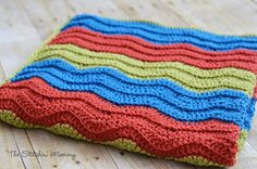 Easy Crochet Ripple Blanket www.thestitchinmommy.com