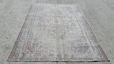Overdyed Rug 8,6x5,10 Feet 261x178 Cm Vintage Oushak Carpet Rug Home Floor Decor Turkish Carpet Rug Overdyed Rug Gray Rug Turkish Gray Rug
