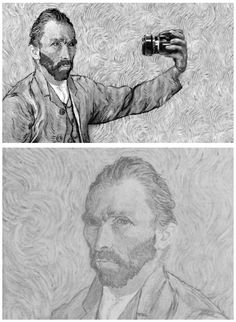 van gogh self portrait, not really