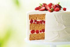 Canadian Maple Raspberry Cake
