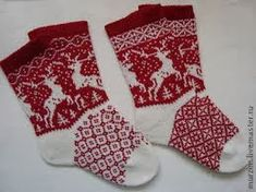 "Вязание: Норвежские орнаменты ""Олени"" Christmas Stockings, Knit Crochet, Socks, Knitting, Holiday Decor, Blog, Patterns, Deer, Norway"