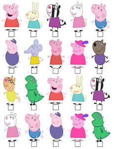 Risultati immagini per stand up cake toppers Peppa Pig Y George, George Pig, Cumple Peppa Pig, Pig Character, Edible Cupcake Toppers, Pig Party, Ideas Para Fiestas, Kids Boxing, 2nd Birthday