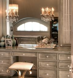 In case you havent noticed.i really really reallly want a vanity! Interior Exterior, Interior Design, Boudoir, Dressing Tables, Dressing Room, Dream Closets, Beautiful Bathrooms, Silver Vanity, Antique Vanity