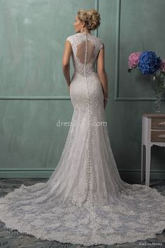 Vintage Wedding Dress, gorgeous back!!