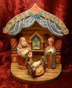 Nativity Scene Starter Set for Derevo Folk Nativity - Old World Russia