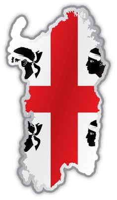 "Sardinia map flag sticker decal 3"" x 5"" -- Awesome products selected by Anna Churchill"