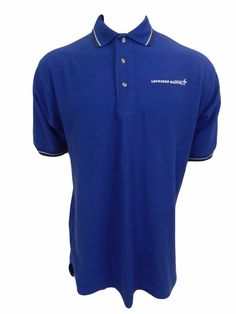 Lockheed Martin Polo Shirt Mens Size L Large Embroidered Logo Blue #PortAuthority #PoloRugby