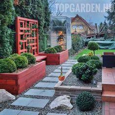 kertépítés ötletek Beautiful Gardens, Sidewalk, Patio, Outdoor Decor, Plants, Instagram, Home Decor, Decoration Home, Room Decor