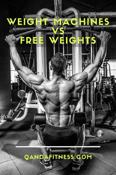 What is best to use at the gym, free weights or machines? Really it depends on your goals. However, here's our take on free weights vs. machines at the gym - QandA Fitness - #fitness #gym #freeweights #GymMachines