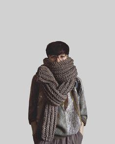 The Soopascarf in Barley by Yokoo on Etsy, $155.00