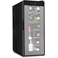 Nutrichef 12 Bottle Thermoelectric Wine Cooler Counter Top Wine Cellar Freestanding Refrigerator Quiet Ope Thermoelectric Wine Cooler Wine Cooler Wine Bottle