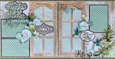 Sweet Home scrapbook layout kit designed by Beatriz Guzman and Janet Gaar for Scrapbook Layout Sketches, Scrapbooking Layouts, Scrapbook Pages, Page Design, Layout Design, Arts And Crafts, Paper Crafts, Green Theme, Wedding Scrapbook