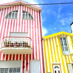 COSTA NOVA, PORTUGAL #design #costanova #stripes #colorful #style